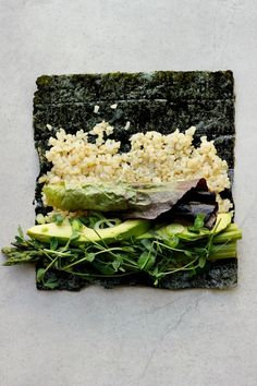 Asparagus + Brown Rice Sushi Rolls with Sesame Ginger Sauce ⎮ happy hearted kitchen