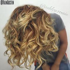Haircut and Color by Ashley #wow #amazinghair #texture #curls #ombre #goldenblonde #goldenhair #waves #curlyhair #hairenvy #modernsalon #btcpics #behindthechair #vain #vainaustin #vainsalon #austinhair #austinhairstylist @ashleyxvain