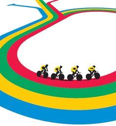 «Regenbogen», Plakat von den Olympischen Sommerspielen 2012 in London.