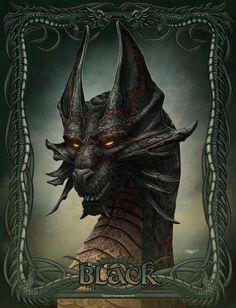Photos + Mythology, Dragons, Black, by Kerem Beyit Dragon Images, Dragon Pictures, Ice Dragon, Black Dragon, Fantasy Dragon, Fantasy Art, Fantasy Creatures, Mythical Creatures, Foto Cartoon