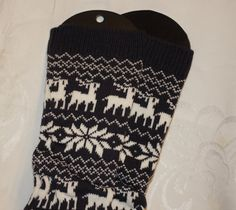 Cozy soft knit leg warmer for lady's or girls Deer pattern socks with white and Charcoal gray in picture you will receive exactly they described! color available grey, Lace Boot Socks, Deer Pattern, Knit Leg Warmers, Patterned Socks, Knit Crochet, Knitting Patterns, Women Accessories, Legs, Charcoal Gray