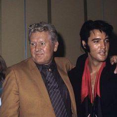"Elvis with his Dad, Vernon @ the ""Las Vegas"" press  conference 1969"