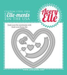 Avery Elle Geek Love die set