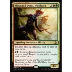 The Gathering MTG Oath Of The Gatewatch Wildborn X4 M//NM Magic Mina And Denn
