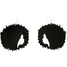 These natural hair earrings are simply adorable. This is easily my newest favorite pair of earrings that we carry. Her afro is just too cute. These afro earrings are approximately 3 x 3 inches in size