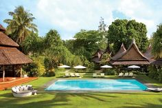 Dedon opens Dedon Island, a ten-acre resort in the Philippines designed by Jean-Marie Massaud and Daniel Pouzet. Siargao Island, Unusual Hotels, Relaxing Holidays, Island Resort, Island Beach, Interior Exterior, Exterior Design, Cambodia, Swimming Pools