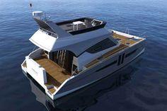 Aventura 10, le seul catamaran à moteur de moins de 10 m