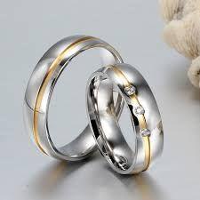 732395405115 Resultado de imagen para anillos de matrimonio de acero