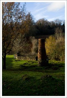 Clearwell, chimney is for providing air to the caves below, Forest of Dean, Copyright: Aleks Gjika