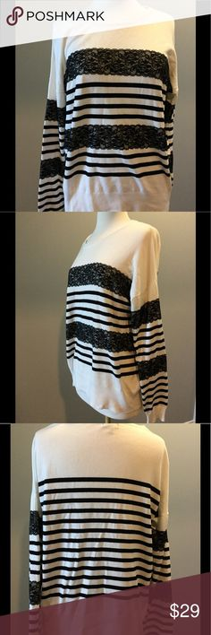 The Limited Pretty in Lace and Stripes The Limited Pretty in Lace and Stripes, size medium... see the pics for more details The Limited Sweaters