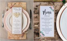 Az esküvői menü prezentálása mindig fontos szempont az dekorációban, ezért érdemes követni, hogy milyen lesz a menükártya trend 2020-ban!  #esküvőimenükártya #menükártyatrend2020 Wedding Men, Pantone, Place Cards, Place Card Holders