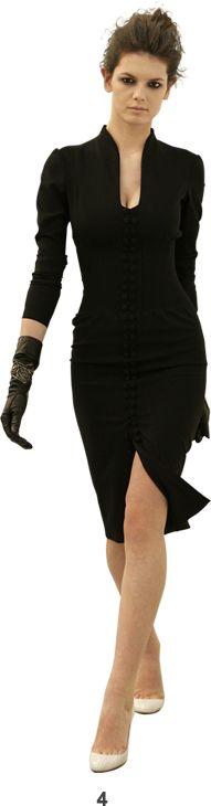 L'Wren Scott - gorgeous neckline -& love it paired with the gloves