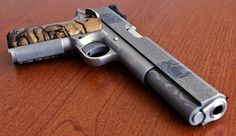 A Uselton 1911 Long Slide .38 Super donated to the NRA's Firearms for Freedom program.