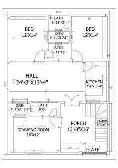 Fiverr freelancer will provide Architecture & Interior Design services and create professional plans for your business including Include Drawings within 3 days 40x60 House Plans, Town House Plans, 2bhk House Plan, Unique House Plans, Narrow House Plans, Indian House Plans, Free House Plans, Small House Floor Plans, Model House Plan