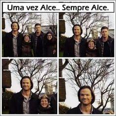 Sempre kkkkk Sam Winchester, Familia Winchester, Supernatural Series, Supernatural Funny, Mark Sheppard, Spn Memes, Funny Memes, Jared Padalecki, Misha Collins