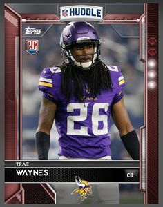 Trae Waynes (Rookie) Minnesota Vikings Red Parallel Card 2016 Topps HUDDLE