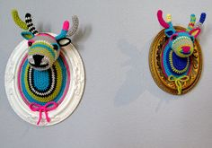 Crocheted Faux Taxidermy by Manafka Mina : Wantist