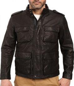 12c417320f6b COACH Harrison Leather Jacket