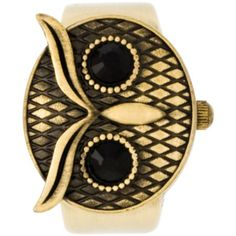 """Decree Owl Watch Ring or Pendant (049353755458) Earn your place in the who's-who of style with this charming Decree®owl pendant that doubles as a watch. Brand: Decree® Dial Color: Brown Stones/Accents: Etched owl flip-cover Necklace Length: 30"""" Clasp: Spring-ring Movement: Quartz Case Width: 26mm Case Thickness: 12mm Model No.: DCR09B Jewelry photos are enlarged to show detail."""