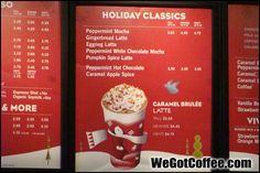 Starbucks holiday menu board