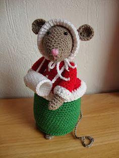 Dit is Faith, alweer mijn 5e muis. Nog 2 te gaan, ook deze heb ik weer met veel plezier gemaakt. Het patroon is te koop bij Antoinette, on...