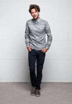 YARDSPACE CREW KNIT REYCLED COTTON  WORKER CHINO REYCLED COTTON