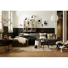 House Doctor Block Vloerkleed Zwart/Wit - 90 x 200 cm - afbeelding 3