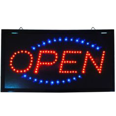 "Large 24x13"" Bright Animated LED Open Store Shop Food Sign Display neon Light #AhhaProducts"