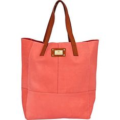 pink large leather tote bag - shopper / tote bags - bags / purses - women - River Island