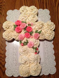 First Communion Cupcake Cake | Popular Pin