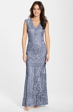 1735326a8f6b JS Collections Soutache  amp  Mesh Mermaid Gown available at  Nordstrom Mob  Dresses