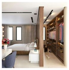 Bedroom Storage Ideas For Clothes, Bedroom Closet Storage, Bedroom Closet Design, Master Bedroom Closet, Home Room Design, Home Interior Design, Clothes Storage, Storage Beds, Diy Clothes