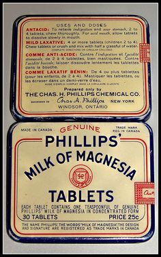 I remember this in Grandma medicine cabinet. Phillips' Milk of Magnesia tablets by Will S., via Flickr..