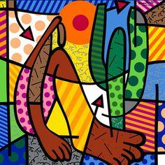 Romero Britto me encanta! Releitura da Obra de Tarsila do Amaral - 'Abaporu'.