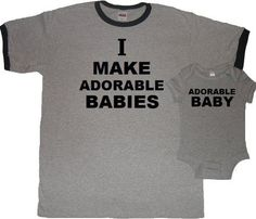 Cool pair daddy and baby onsie  #funnybabyonsie