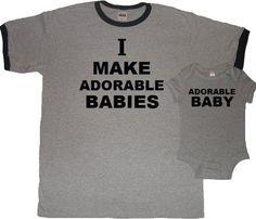 Cool pair daddy and baby onsie  #funnybabyonsie