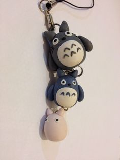 Handmade Fimo Polymer Clay Kawaii Totoro Charm Pendant Phone Accessory Bracelet Necklace. £9.00, via Etsy.