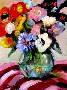 Flowers in Vase Delilah Smith