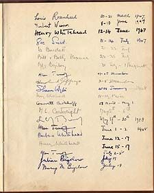 alan turing s introduction of universal turing machines or a photo of a sheet of mottled paper ink signatures on it