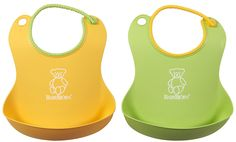 Baby Bjorn Soft Bib - Green/Yellow 2 pack - Free Shipping