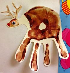 preschool christmas St. James Preschool Handprint Reindeer #ReindeerHandprint #reindeerhandprint Reindeer Handprint