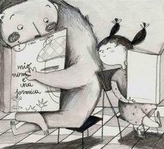 And you are reading? / Y tú que lees? (ilustración de Francesca Quatraro)