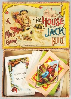 Antique game - The House That Jack Built by McLoughlin Bros.