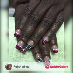 Hand Painted by Polishadiktd via Nail Art Gallery #nailartgallery #nailart #nails #acrylic #polish #handpainted