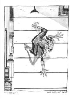 Tim Sale, Spiderman sketch, 2010