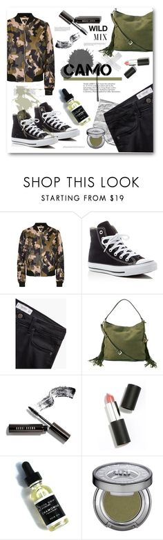 """""""FIRE (BTS)"""" by miryoserra ❤ liked on Polyvore featuring Topshop, Converse, MANGO, Diane Von Furstenberg, Bobbi Brown Cosmetics, Sigma Beauty, Urban Decay, Libertine and camostyle"""
