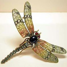 "Art Nouveau ""Dragonfly"" Brooch ca.1910"