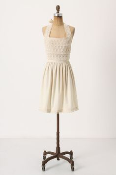 Cute apron to wear over my wedding dress since we're having BBQ -   Angel Food Cake Apron - Anthropologie.com