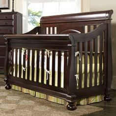 Black Baby Sleigh Bed Cribs