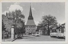 Alte Postkarte von Rostock, ca. 1956